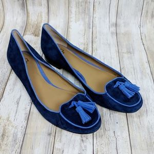 Ann Taylor Piper Suede Smoking Shoes Size 9.5